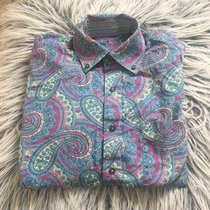 Paisley long sleeve button down shirt